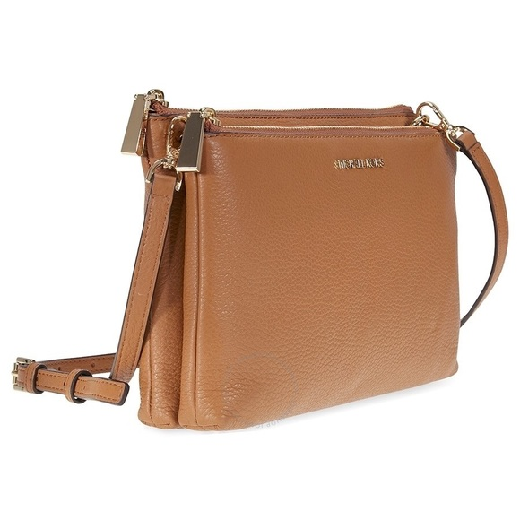 59e90291557f New Michael Kors Adele Double Zip Crossbody Acorn
